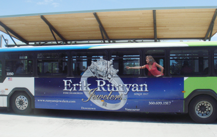 Erik Runyan Jewelers bus board