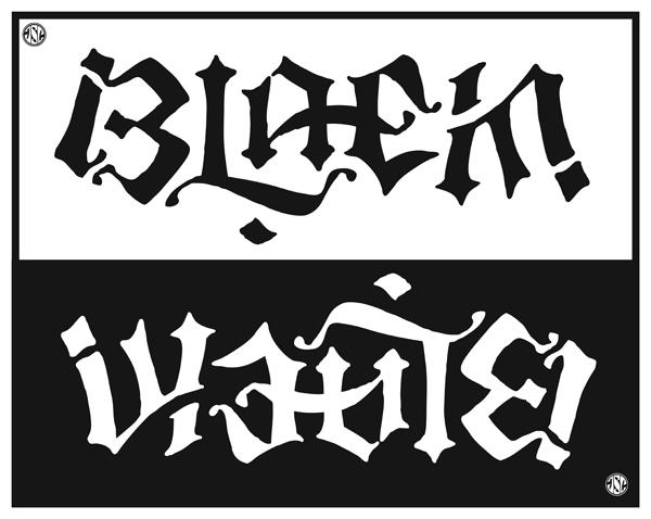 Black & White Ambigram