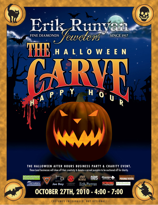 The Halloween Carve Happy Hour Poster