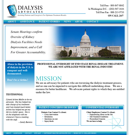 Dialysis Advocates Website