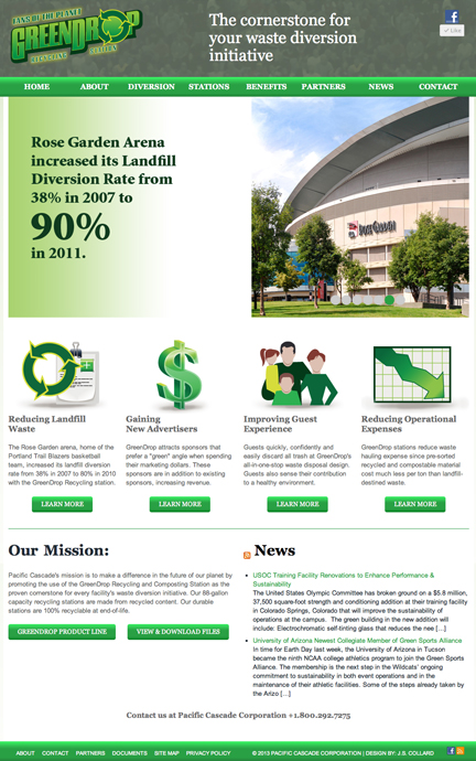 GreenDrop Recycling and Composting Station Website Design