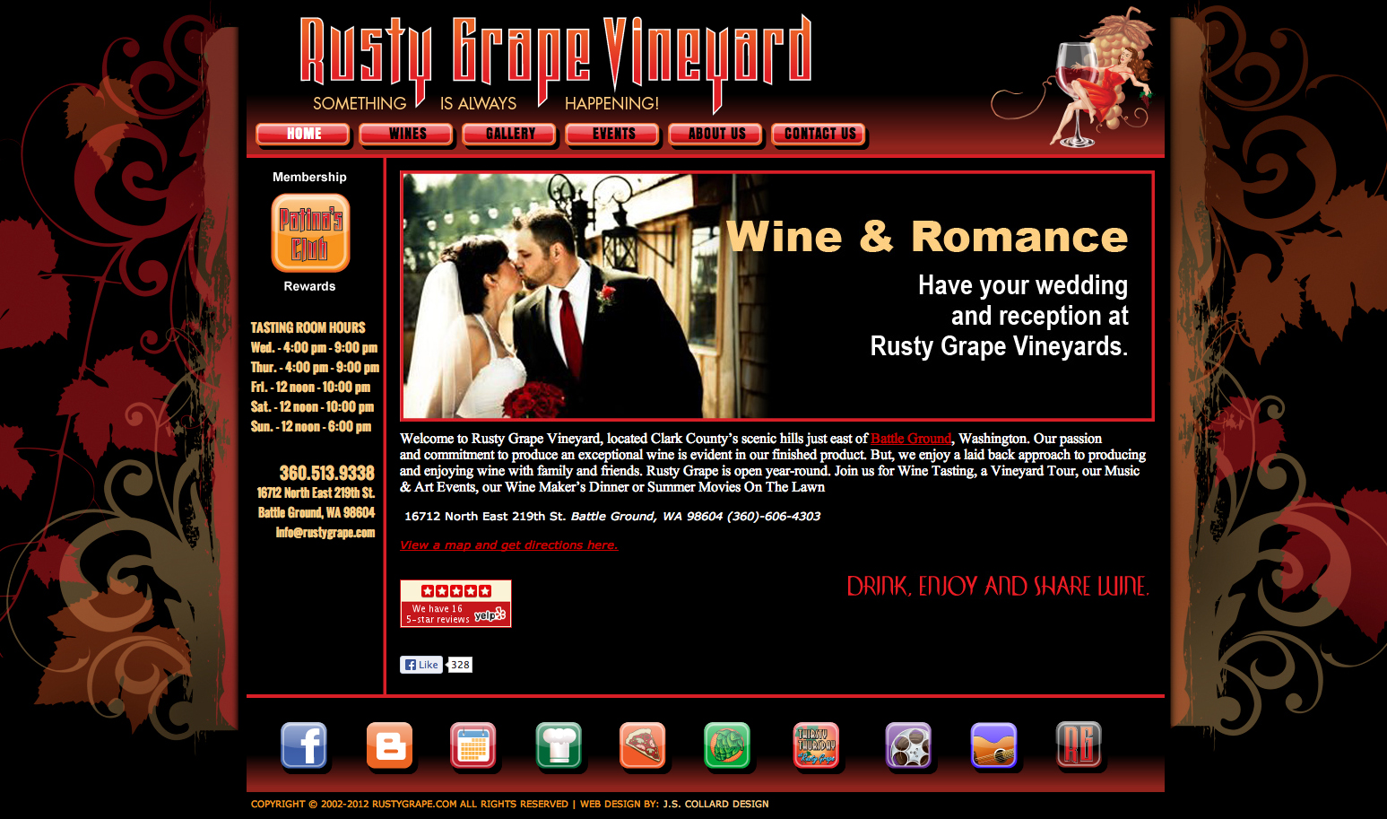 Rusty Grape Vineyard Website